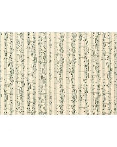 Card, music notes, A4, 210x297 mm, 180 g, 10 sheet/ 1 pack