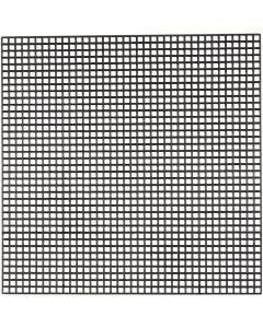 Cross Stitch Plastic, size 14x14 cm, hole size 3x3 mm, black, 50 sheet/ 1 pack