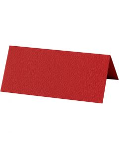 Place cards, size 9x4 cm, 220 g, red, 10 pc/ 1 pack