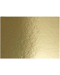 Metallic Foil Card, A4, 210x297 mm, 280 g, gold, 10 sheet/ 1 pack