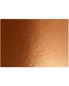Metallic Foil Card, A4, 210x297 mm, 280 g, copper, 10 sheet/ 1 pack