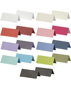 Place cards, size 9x4 cm, Content may vary , 250 g, assorted colours, 30 pack/ 1 pack