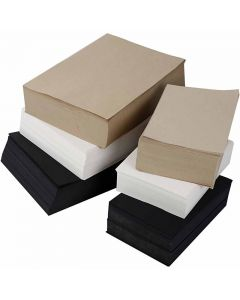 Kraft Paper, A3,A4, 100 g, black, grey, noble, white, 6000 ass sheets/ 1 pack