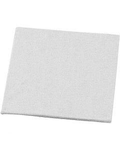 Canvas Panel, size 10x10 cm, 280 g, white, 10 pc/ 1 pack