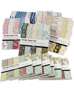Design Paper Pad, 15,2x15,2 cm, 120 g, assorted colours, 6x10 pc/ 1 pack