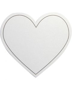 Heart, size 75x69 mm, 120 g, white, 10 pc/ 1 pack