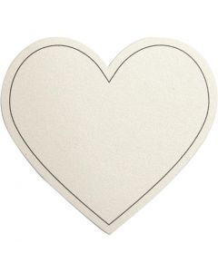Heart, size 75x69 mm, 120 g, off-white, 10 pc/ 1 pack