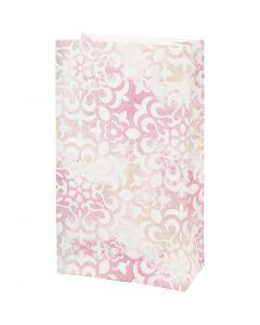 Paper Bag, watercolour, H: 21 cm, size 6x12 cm, 80 g, 8 pc/ 1 pack