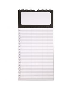 Family Planner, size 44x22 cm, 180 g, 5 pc/ 1 pack