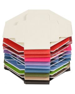 Colorful Folding boxes, size 5,5x5,5 cm, 250 g, 100 pc/ 1 pack