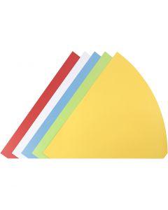 Cones, H: 68 cm, D: 20 cm, assorted colours, 5 pc/ 1 pack