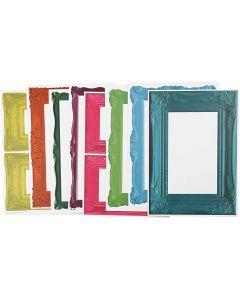 Frames, 26,2x18,5 cm, bold colours, 16 ass sheets/ 1 pack