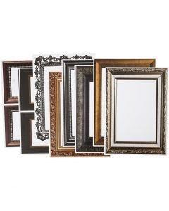 Frames, 26,2x18,5 cm, metallic colours, 16 ass sheets/ 1 pack
