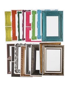 Frames, assorted colours, 64 ass sheets/ 1 pack