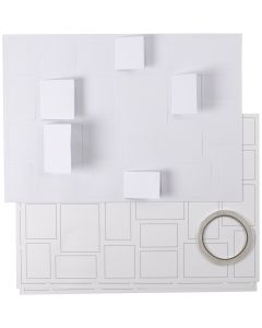 Christmas Calendar, size 30x42 cm, white, 5 pc/ 1 pack
