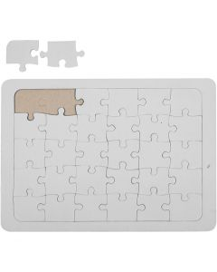 Jigsaw Puzzle, size 15x21 cm, white, 1 pc