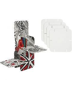 Construction Pieces, size 9,3x9,3 cm, white, 20 pc/ 1 pack