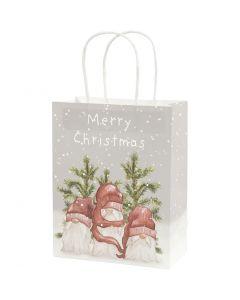 Paper Bag, H: 23 cm, size 9x18 cm, 120 g, 3 pc/ 1 pack