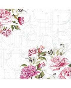 Table Napkins, Rose letters, size 33x33 cm, 20 pc/ 1 pack