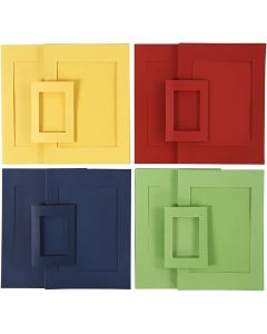 Picture Mount, size A4+A6 , blue, green, red, yellow, 2x60 pc/ 1 pack