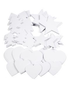 Christmas Shapes, size 6-10 cm, 240 g, white, 300 pc/ 1 pack