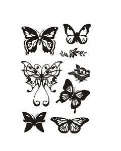 Clear Stamps, butterflies, 11x15,5 cm, 1 sheet