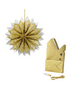 Paper Bag Star, 170 g, gold, 1 set