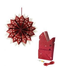 Paper Bag Star, 200 g, red, 1 set