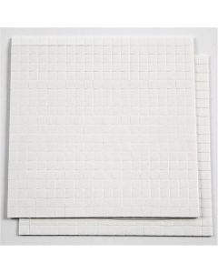 3D Foam Pads, size 5x5 mm, thickness 1 mm, white, 2 sheet/ 1 pack