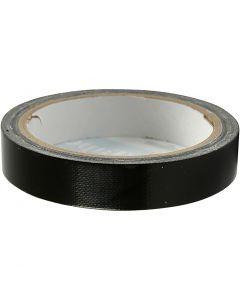 Duct Tape, W: 19 mm, black, 25 m/ 1 roll