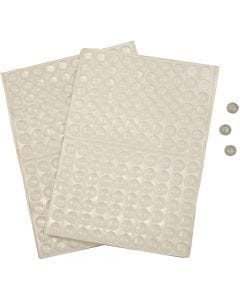 Silicone Dots, H: 1,5 mm, D: 8 mm, 300 pc/ 1 pack