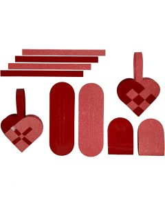 Woven Hearts, 120 + 128 g, 8 set/ 1 pack