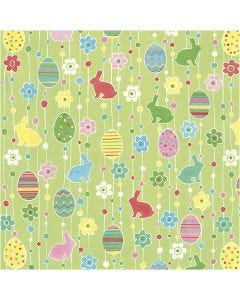 Table Napkins, decorated easter eggs, size 33x33 cm, 20 pc/1 pack