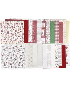 Design Paper pad, 30,5x30,5 cm, 120+128 g, 24 sheet/ 1 pack