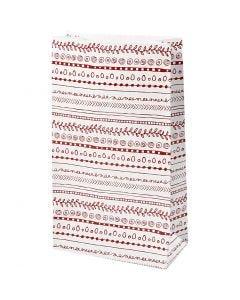 Paper Bag, doodles, H: 21 cm, size 6x12 cm, 8 pc/ 1 pack