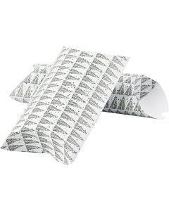 Pillow box, pinetree, size 23,9x15x6 cm, 300 g, green, 3 pc/ 1 pack