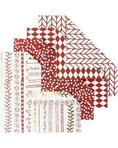 Origami Paper, size 10x10 cm, 80 g, red, 40 sheet/ 1 pack