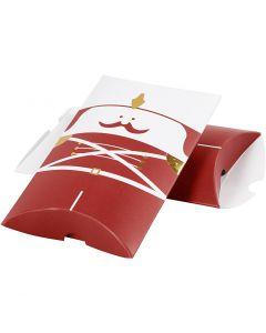 Pillow box, nutcracker, size 14,9x9,4x2,5 cm, 300 g, gold, red, white, 3 pc/ 1 pack