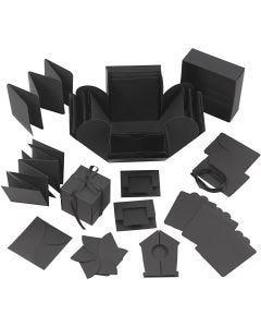 Explosion box, size 7x7x7,5+12x12x12 cm, black, 1 pc