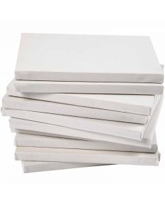 Stretched Canvas, A3, size 29,7x42 cm, 280 g, white, 40 pc/ 1 pack