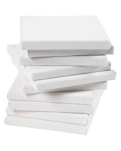 Stretched Canvas, depth 1,6 cm, size 15x15 cm, 280 g, white, 80 pc/ 1 pack
