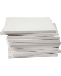 Stretched Canvas, size 30x30 cm, 280 g, white, 40 pc/ 1 pack