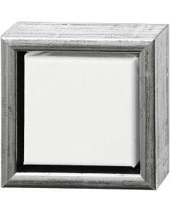 ArtistLine Canvas with frame, depth 3 cm, size 14x14 cm, white, antique silver, 1 pc