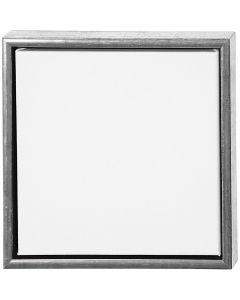 ArtistLine Canvas with frame, depth 3 cm, size 34x34 cm, white, antique silver, 1 pc