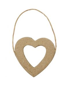 Heart Frame, H: 7,5 cm, W: 7 cm, 6 pc/ 1 pack