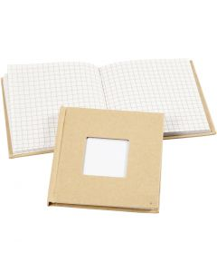 Notebook, size 10x10 cm, 60 g, brown, 1 pc