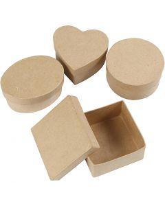 Medium boxes, H: 5 cm, D: 10-12 cm, 4 pc/ 1 pack