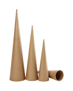 Tall Cones, H: 30-40-50 cm, D: 8-9-11,5 cm, 3 pc/ 1 pack