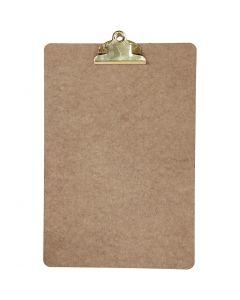 Clipboard, A4, 230x340 mm, thickness 3 mm, brass, 1 pc