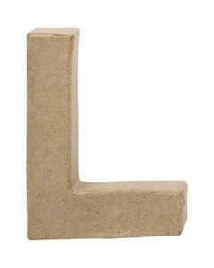 Letter, L, H: 10 cm, W: 7,5 cm, thickness 1,7 cm, 1 pc